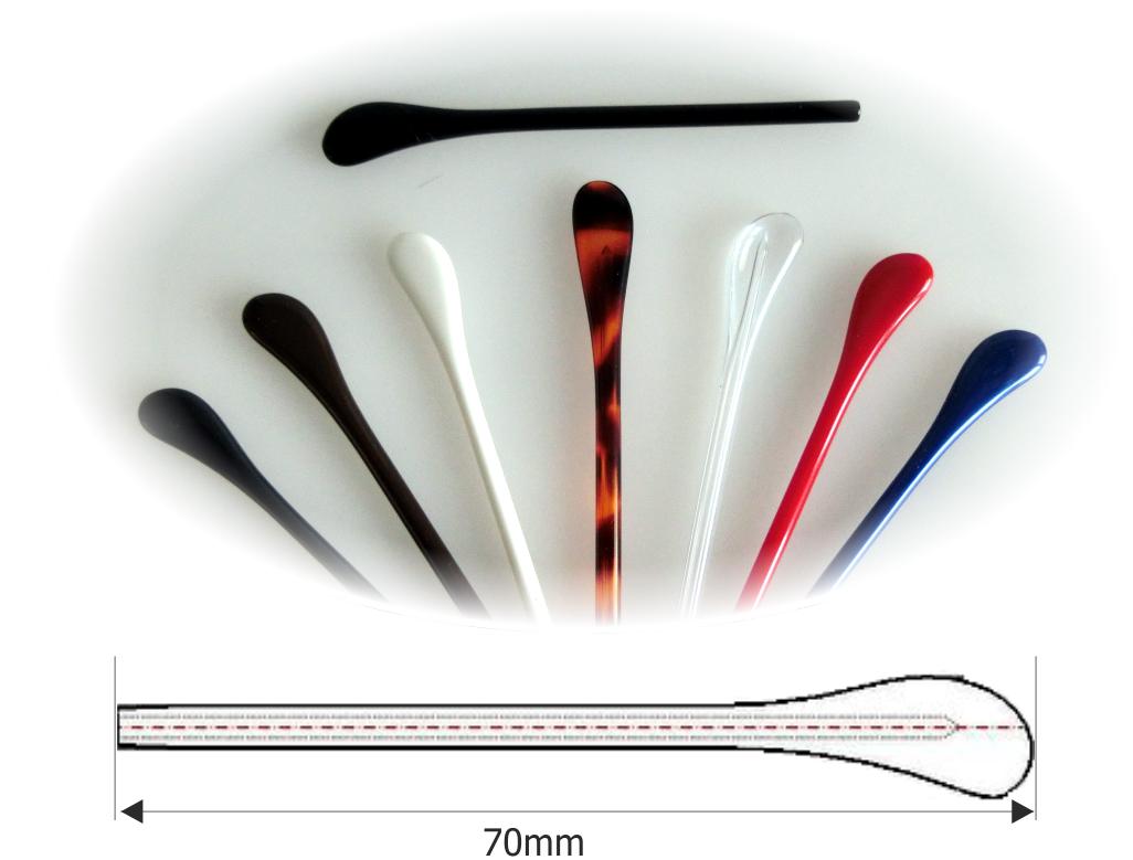 Bügelenden aus Acetat schwarz, Ø1,5x70mm,VPE = 10 Stück