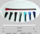 Bügelende 2-Komponenten  Innen-Ø 1,0mm,  Außen-Ø 3,0mm  Farbe: dunkelblau/schwarz  VPE = 1 Paar,