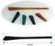 Bügelende aus Acetat,   Innen-Ø 1,2mm, Länge 65mm   Farbe schwarz, VPE = 10 Stück