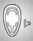 Pads aus Silikon, schraub   14mm, tropfen,   VPE = 100 Stück, Bestell-Nr. 600 114