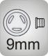 Pads aus Silikon, click   9mm, rund,  VPE = 300 Stück,