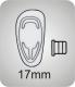 Pads aus Silikon, click   17mm, standard,  VPE = 20 Paar, Bestell-Nr. 601 017
