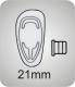 Pads aus Silikon, click   21mm, standard,  VPE = 20 Paar, Bestell-Nr. 601 021