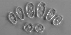 Eco-Pads made in Asia, aus Silikon, schraub 15mm, tropfen, Padstärke 2mmVPE = 100 Stück,