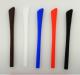 Bügelende aus Silikon, rot   mit eckiger Öffnung 1,0mmx2,0mm   VPE = 10 Stück